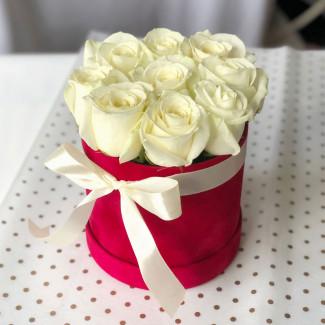 """Белые Розы в Коробке """"Ваше..."""