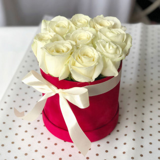 "White Roses in a Box ""Your..."