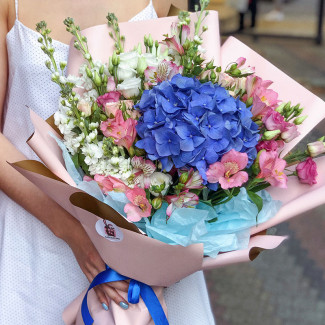 Bouquet with Blue Hydrangea