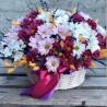 Basket of chrysanthemums photo