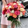 51 multi-colored rose photo