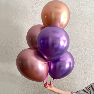 Five Metallic Balloons