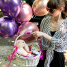 Basket with soft toys photo