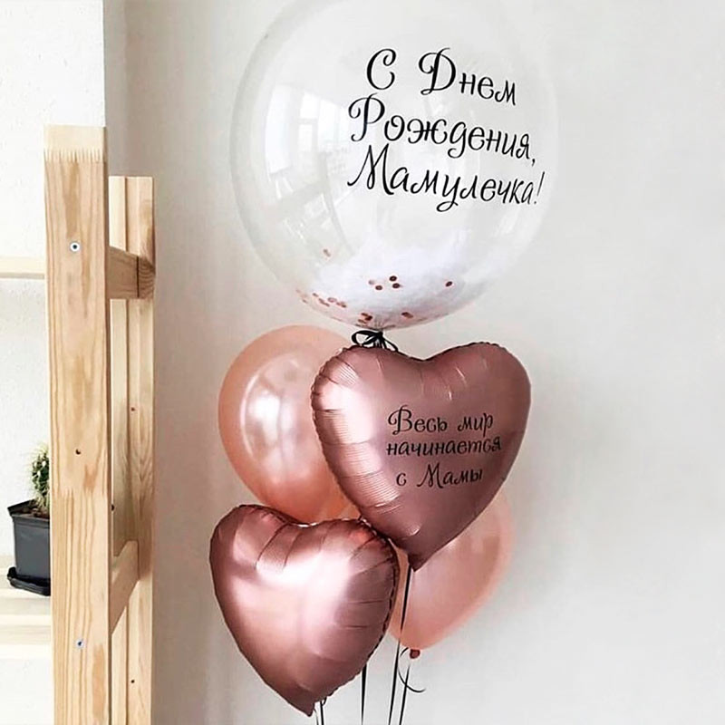 Large balloon with the inscription happy birthday mom photo