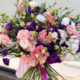 Huge Bouquet of Eustomas
