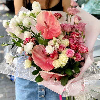 Bouquet with Pink Anthurium