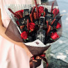 Man's bouquet with Jack Daniels whiskey photo