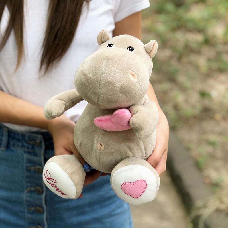 Плюшевая игрушка бегемот фото