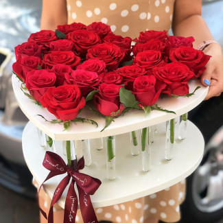 Trandafiri în eprubete fotografie