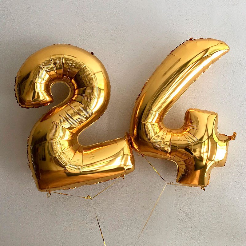Balloons golden numbers photo
