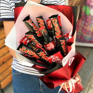Букет из шоколадок марс фото