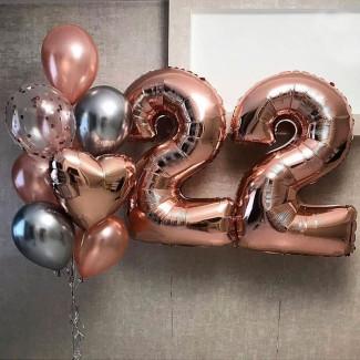 Balloons Rose Gold