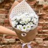 Bouquet of white chrysanthemums photo