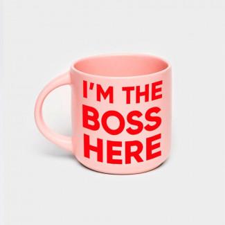 Чашка Розовая «I'm the Boss...