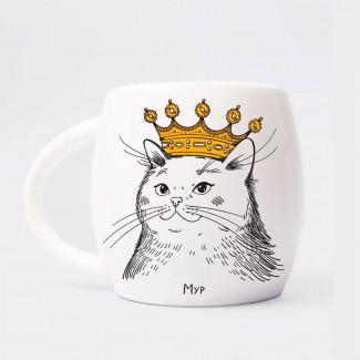 """Cană  """"Pisica în Сoroană"""""""