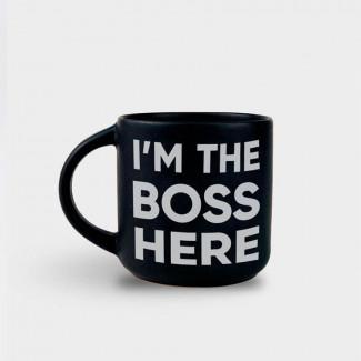 Чашка Чёрная «I'm the boss...