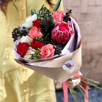 Bouquet with Protea
