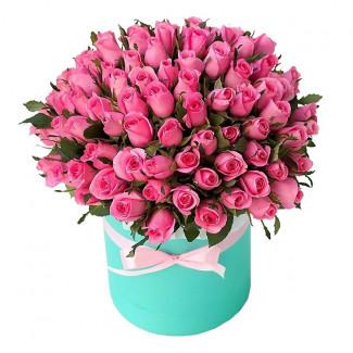 """Цветы в Коробке """"Розовая Леди"""""""