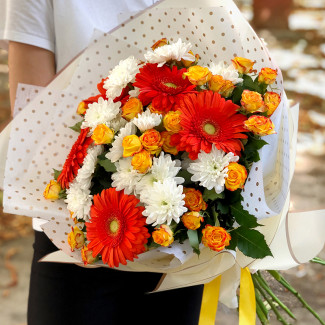 Autumn flowers bouquet photo