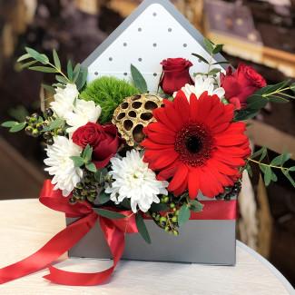 """Цветы в Коробке """"Письмо..."""