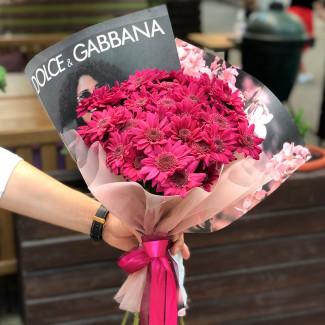 Фиолетовые хризантемы фото
