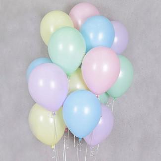 Fotografie cu baloane macaroons