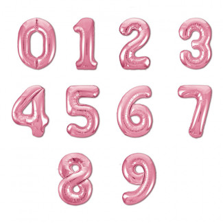 Pink balloons numbers photo