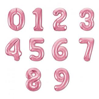 Розовые воздушные шарики цифры фото