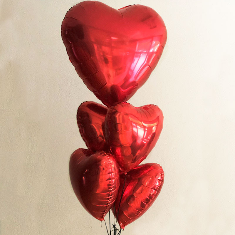 Balloon big red heart photo