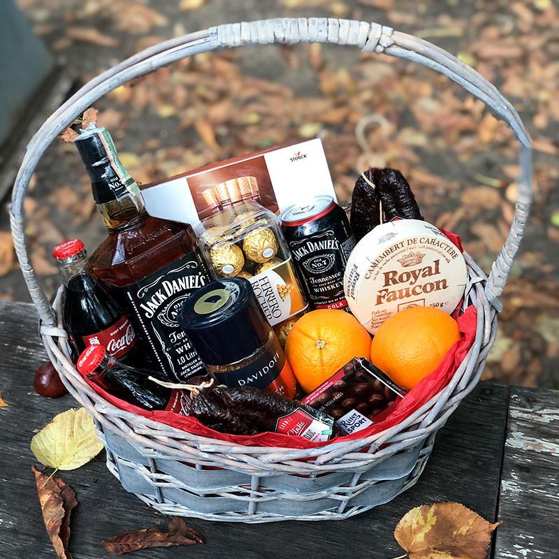 Basket with Jack Daniels photo