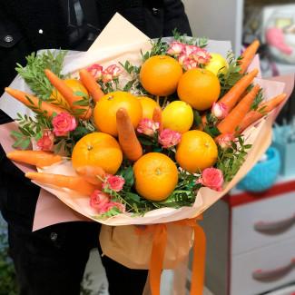 Букет с фруктами фото