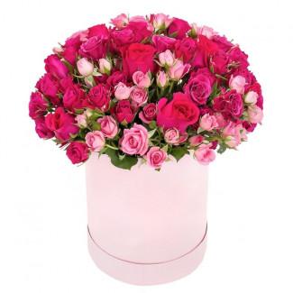 """Цветы в Коробке """"Малиновый..."""