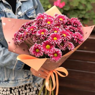 Милый букет хризантем фото