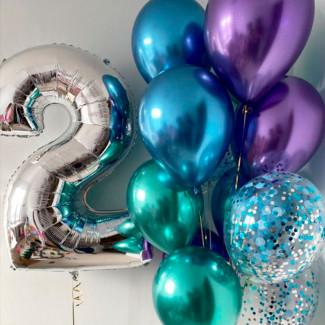 """Set de baloane """"Auroră polară"""""""