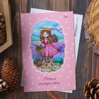"""Postcard """"Pentru Scumpa Mea"""""""
