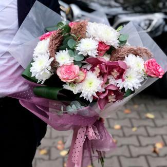 Букет из осенних цветов фото