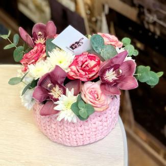 Coș de flori fotografie