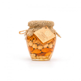 Acacia honey with mix nuts photo