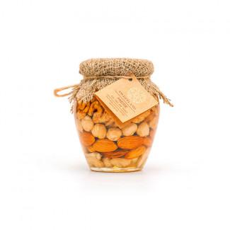 Акациевый мёд с орехами ассорти фото