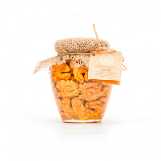 Acacia honey with walnuts photo
