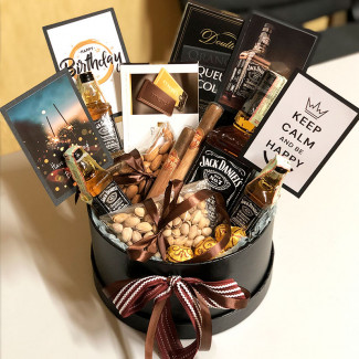Gift box with Jack Daniels photo