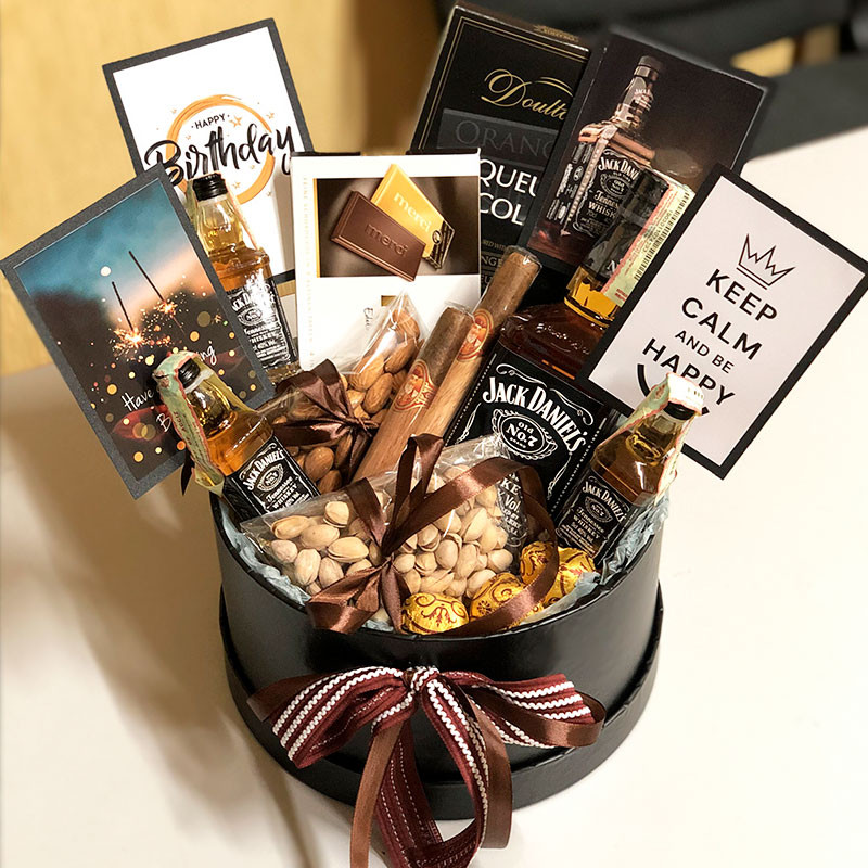 Gift box with Jack Daniels photo