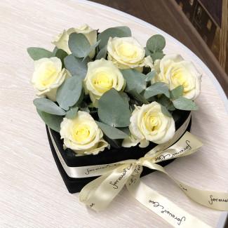 """Cutie cu Flori """"Perlă Neagră"""""""