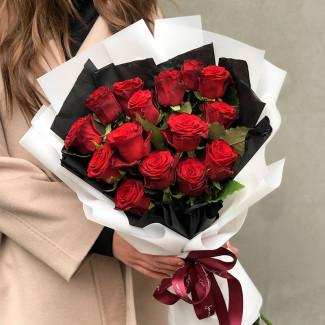 Букет Красных Роз в Кимоно