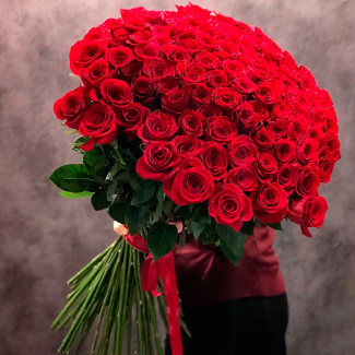 101 Premium Rose 90 cm