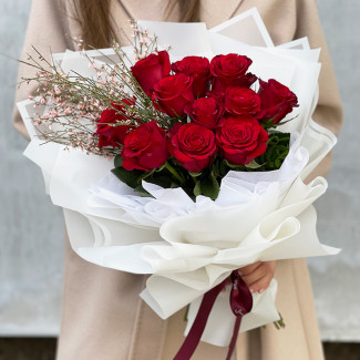 11 Red Roses in Spring