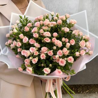 Букет Нежно - Розовых Роз