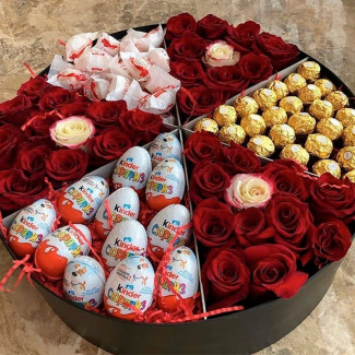 Large Box of Roses & Sweets