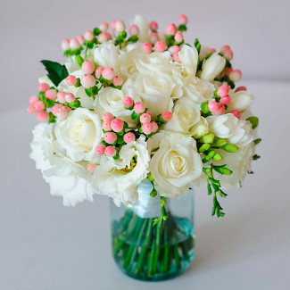 Bridal Bouquet with White...