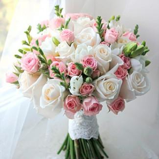 Bridal Bouquet of White...